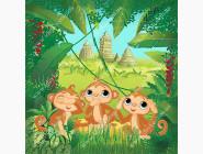 Вышивка с животными Вышивка бисером Идейка Три обезьянки (ВБ1052)