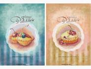 Картины для кухни  Картина бисером на холсте Идейка Сладкий дуэт ( Две картины в наборе) (ВБ2005)