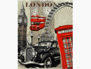 Городской пейзаж Винтажная марка. Англия