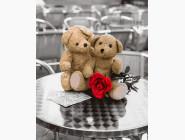 Цветы, натюрморты, букеты Влюбленные мишки