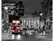 Городской пейзаж Ночной автобус