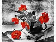 Цветы, натюрморты, букеты Составляя букет
