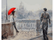 Романтика, любовь Незнакомка под алым зонтом