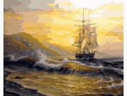 Море, морской пейзаж, корабли Рассвет