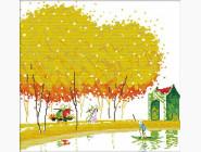 Вышивка с пейзажами Картина вышивка крестом Идейка Японский пейзаж 2 (F103)