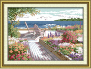 Вышивка с пейзажами Набор для вышивания Идейка Курортный пейзаж (F130)