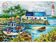 Вышивка с пейзажами Вышивание крестиком Идейка Портовый городок (F181)
