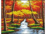 Вышивка с пейзажами Набор для вышивки Идейка Золотая осень 2 (F183)