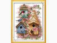 Вышивка с пейзажами Набор для вышивания Идейка Птичкин дом (F190)