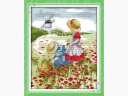 Вышивка с пейзажами Набор для вышивки Идейка Дети в поле (F196)