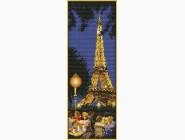 Вышивка с пейзажами Набор для вышивания Идейка Ночной Париж (F214)