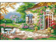 Вышивка с пейзажами Вышивание крестиком Идейка Романтичная веранда (F231)