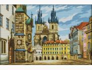 Вышивка с пейзажами Вышивка крестиком Идейка Европейская улочка (F238)
