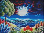 Вышивка с пейзажами Вышивка крестом Идейка Фантастический пейзаж 2 (F315)