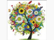 Вышивка с пейзажами Набор для вышивки Идейка Дерево счастья 1 (F358)