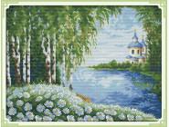 Вышивка с пейзажами Набор для вышивания Идейка Уютная церковь (F383)