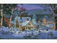 Вышивка с пейзажами Вышивка крестиком Идейка Зимний вечер (F395)