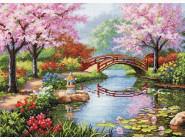Вышивка с пейзажами Набор для вышивания Идейка Живописный сад (F410)