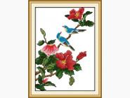 Цветы и натюрморы Вышивание крестиком Идейка Птички на ветке (H009)
