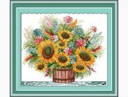 Цветы и натюрморы Вышивка крестиком Идейка Цветущий букет (H035)