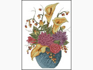 Цветы и натюрморы Вышивка крестиком Идейка Цветы в вазе (H231)
