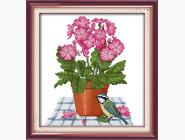 Цветы и натюрморы Набор для вышивания Идейка Цветы и птичка (H257)