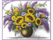 Цветы и натюрморы Набор для вышивки Идейка Подсолнухи и сирень (H333)