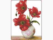 Цветы и натюрморы Картина вышивка крестом Идейка Яркие маки (H334)