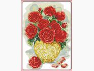 Цветы и натюрморы Вышивка крестом Идейка Букет роз 1 (H341)
