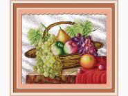 Цветы и натюрморы Вышивка крестом Идейка Корзина с фруктами (J005)