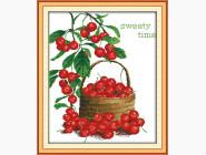 Цветы и натюрморы Картина вышивка крестом Идейка Сладкие ягоды (J043)