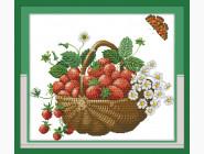 Цветы и натюрморы Вышивание крестиком Идейка Корзина с ягодами (J048)