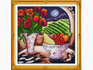 Цветы и натюрморы Вышивка крестиком Идейка Ночной натюрморт (J049)