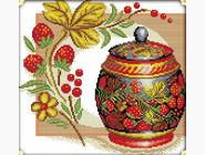 Цветы и натюрморы Набор для вышивания Идейка Медовая клубника (J111)