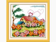 Наборы для детей Набор для вышивки Идейка Сельский домик (K062)