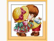 Наборы для детей Вышивка крестом Идейка Маленькие влюблённые (K091)
