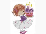 Наборы для детей Вышивка крестом Идейка День рождения (K197)