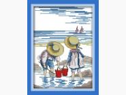 Вышивка с детками Вышивание крестиком Идейка Игры на море (K209)