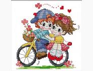 Наборы для детей Набор для вышивки Идейка Вдвоём на велосипеде (K402)