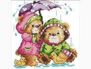 Наборы для детей Вышивка крестом Идейка Под дождём (K566)