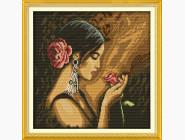 Портреты, люди Набор для вышивки Идейка Девушка с розой (R339)