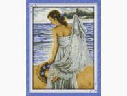 Портреты, люди Набор для вышивания Идейка Девушка на побережье (R358)