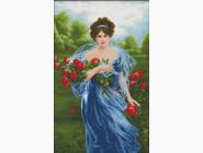 Портреты, люди Набор для вышивания Идейка Дама с цветами (R423)