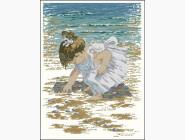 Портреты, люди Набор для вышивания Идейка На побережье 2 (R487)