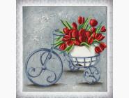 Цветы и натюрморты Картина из бисера Идейка Навстречу весне (ВБ1070)