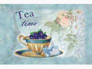 Картины для кухни  Частичная вышивка бисером Идейка Черничный чай (ВБ2012)