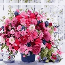 Цветы, натюрморты, букеты