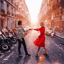 Романтика и влюбленные: картины без коробки
