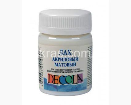 00-00019362 Аксессуары для картин по номерам Лак акриловый матовый Decola Decola