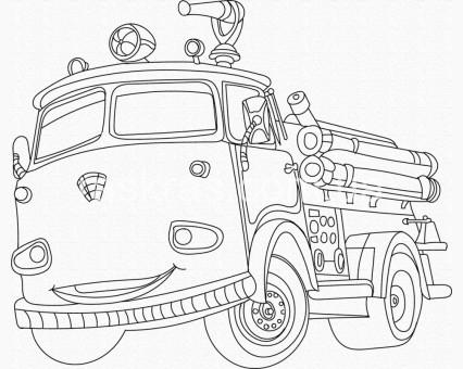 15520-AC Картинки раскраски для детей Пожарная машина ArtCraft